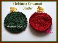 Christmas Ornament Coaster ~ American Crochet