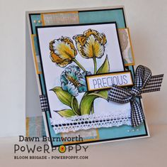 My Stamping Thyme: Power Poppy May Blog Hop using Tulips Digital Stamp.
