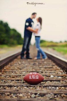 cute save the date #footballwedding