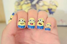 Callina Marie's Photos from the gallery 50 Adorable Despicable Me Minion Nail Designs - Page 5