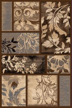 Persian Weavers Reflections rug chocolate brown - Remain Tutorial and Ideas 3d Hand, Contemporary Area Rugs, Decoupage, Hand Carved, Stencils, Chocolate Brown, Carving, Wall Art, Creative