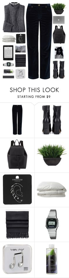 """You Say I'm Crazy"" by holunderbluete ❤ liked on Polyvore featuring A.P.C., Chloé, INDIE HAIR, Mansur Gavriel, Lux-Art Silks, Topshop, Nimbus, Acne Studios, Casio and Happy Plugs"