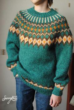 Fair Isle Knitting, Baby Knitting, Knitting Projects, Knitting Patterns, Icelandic Sweaters, Knit Art, Sweater Design, Embroidery Kits, Bunt