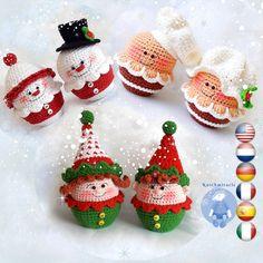 Crochet pattern Amigurumi Snowman Christmas Elf / Gnome | Etsy Crochet Christmas Decorations, Christmas Cupcakes, Diy Christmas Tree, Christmas Toys, Christmas Snowman, Christmas Christmas, Crochet Doll Pattern, Crochet Patterns Amigurumi, Amigurumi Doll