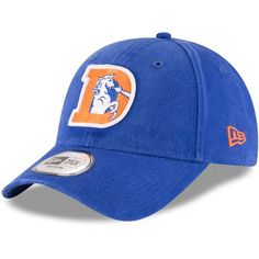 d65a58ab2eb Sports Shop has Men s New Era Royal Denver Broncos NE Core Fit Throwback  Fitted Hat plus easy flat rate shipping!