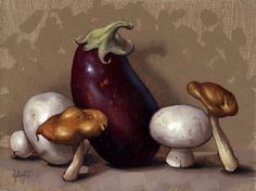 Baby Eggplants & Pearl Onions by Clinton Hobart
