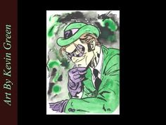 The Riddler Watercolor (speed painting)