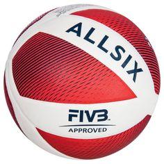 0966358ccdf86 Ballon de volley-ball V900 blanc et rouge ALLSIX. GROUPE 7 SPORTS COLLECTIFS  ...