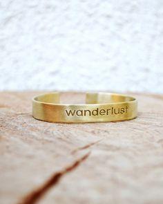 Wanderlust Bracelet / Wanderlust Bangle / Stackable by Bubblebox