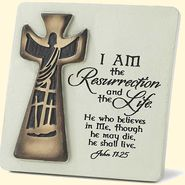 I Am the Resurrection Tabletop Plaque  - from Christian Book Distributors
