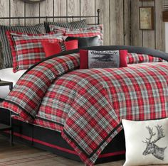 Red Plaid Bedding