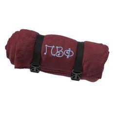 Gamma Sigma Sigma Fleece Blanket - Port and Company Alpha Phi Sorority, Gamma Sigma Sigma, Pi Beta Phi, Sorority Outfits, Sorority Gifts, Greek Gifts, Gifts For Your Sister, Blanket Stitch, Eat Sleep