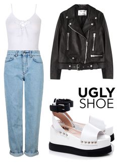 """ugly shoe"" by emma17 ❤ liked on Polyvore featuring Karl Lagerfeld, Topshop and Acne Studios"