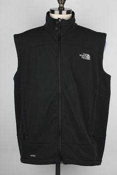 The North Face APEX Black Full Zip XL mens Vest #TheNorthFace