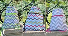 Accessorize me! Chevron Drawstring Bag - FREE SHIPPING ON EVERY ORDER!