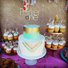 Dream Catcher Cake Topper and Cupcake Toppers