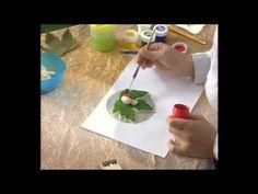 Мастерим забавные фигурки из солёного теста - YouTube Божья коровка на кленовом листике
