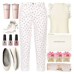 """""""Soft Pink"""" by grozdana-v ❤ liked on Polyvore featuring Current/Elliott, 3.1 Phillip Lim, Balenciaga and Victoria's Secret"""