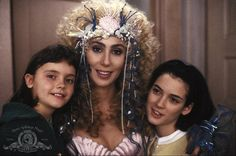 Still of Christina Ricci, Winona Ryder and Cher in Mermaids
