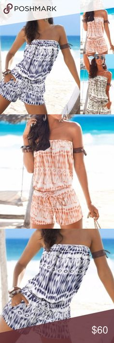 Strapless Romper COMING SOON !! Like this listing to be notified by price drop once it's available 😊  Romper   -- no trades -- -- firm price -- Pants Jumpsuits & Rompers