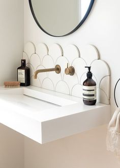 Bathroom Decor modern Our Spaces: Contemporary NZ Interiors Dining Room Design contemporary Interiors spaces Minimal Bathroom, Modern Bathroom, Bathroom Ideas, Bathroom Organization, Bathroom Designs, All White Bathroom, Pictures In Bathroom, Bathroom Storage, Modern Small Bathroom Design