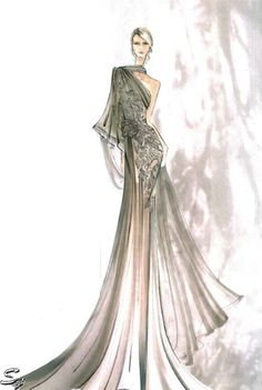 Redesign Disney's Princesses' Gown Fashion Sketch5