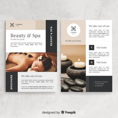 Spa flyer template Free Vector Source by soulospace spa Spa Brochure, Brochure Design, Web Design, Flyer Design, Spas, Spa Branding, Spa Menu, Catalog Design, Wellness Spa