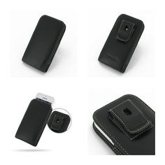 PDair Leather Case for Apple iPhone 5C in BumperCover - Vertical Pouch Type Belt Clip Included (Black)