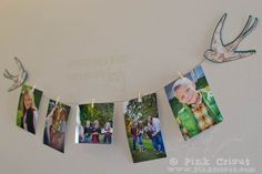 Wall picture LIne- Wire, mini clothespins to hang pictures or children's artwork.