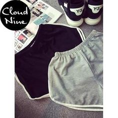 Buy 'Cloud Nine – Elastic-band Sweat Shorts' with Free International Shipping at YesStyle.com. Browse and shop for thousands of Asian fashion items from China and more!