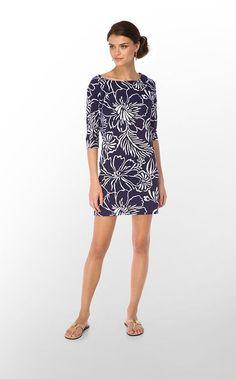 New  lilly pulitzer cassie Cotton slub T-Shirt dress Bright Navy Bella  Size M #LillyPulitzer