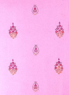 Wall stencil in India color and pattern