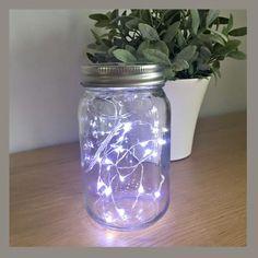 Fairy lights in jar