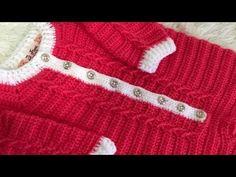 Macacão Mais Bebê 1 a 3 meses - PARTE 1 - YouTube Moda Crochet, Crochet Baby, Knit Crochet, Knitted Baby Clothes, Crochet Clothes, Baby Girl Dresses, Baby Dress, Crochet Crocodile Stitch, Baby Knitting Patterns
