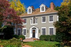 Exterior House Colors For Colonial Homes: Choosing Historic Paint Colors The Practical House Painting Guide,Interior Brown Roof Houses, Brown Roofs, House Roof, House Siding, Exterior Paint Colors For House, Paint Colors For Home, Exterior Colors, Grey Exterior, Exterior Design