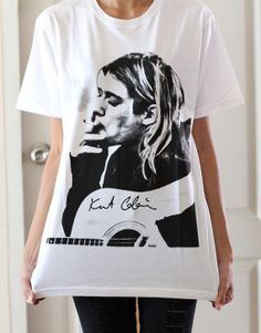 Kurt Cobain shirt Nirvana t shirt Grunge Rock by LookLikeLoveSHOP, $16.99