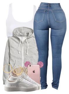 """Boy like  ♂️"" by aaleeyahxpetty ❤ liked on Polyvore featuring Topshop, H&M and Puma"