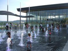 Fountains Outside Carol Ann's Carousel | Smale Riverfront Park