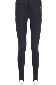 MICHAEL Michael Kors|Faux leather and stretch-jersey leggings|NET-A-PORTER.COM
