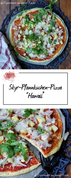 Skyr-Pfannkuchen-Pizza - My list of the most healthy recipes Healthy Pizza Recipes, Healthy Breakfast Recipes, Vegetarian Recipes, Healthy Breakfasts, Eating Healthy, Healthy Snacks, Smoothie Recipes With Yogurt, Healthy Smoothies, Smoothie Detox