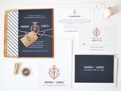 Nautische Anker Hochzeitseinladung & von rachelmarvincreative, $5.00