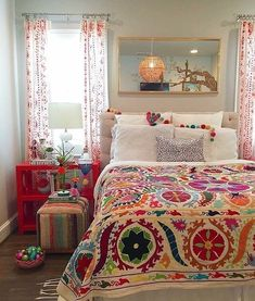 Small Bedroom Ideas Make Your Home. Find the best bedroom ideas, designs & i. Small Bedroom Ideas Make Your Home. Find the best bedroom ideas, designs & inspiration to match your style. Bohemian Bedroom Decor, Home Decor Bedroom, Diy Home Decor, Bedroom Ideas, Master Bedroom, Bedroom Designs, Bedroom Colors, Mexican Bedroom Decor, Orange Bedroom Walls