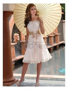 fully embroidered lace short wedding dresses tea length    http://www.thdress.com/fully-embroidered-lace-short-wedding-dresses-tea-length-p2792.html