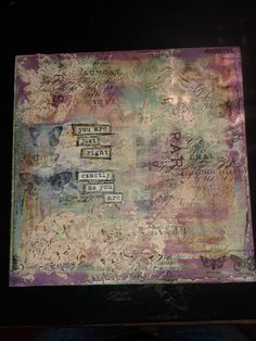 Unique Mixed Media Art Canvas Piece Hand Painted by ALittleShed...