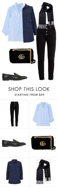 """""""Untitled #2041"""" by kellawear on Polyvore featuring Balenciaga, Vilshenko, Gucci and Topshop"""