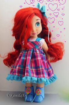 Ariel Disney Animators Collection omg so cute! Pretty Dolls, Cute Dolls, Beautiful Dolls, Disney Baby Dolls, Disney Princess Dolls, Newberry Dolls, Disney Animators Collection Dolls, Ropa American Girl, Disney Animator Doll