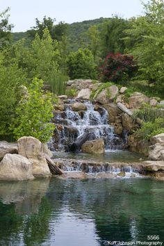 Backyard Stream, Backyard Water Feature, Backyard Landscaping, Lazy River Pool, Garden Bed Layout, Garden Waterfall, Natural Pond, Water Features In The Garden, Water Garden