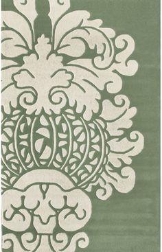 Rugs USA Satara Modern Damask Teal Rug . Green area rug