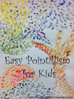 Paint Like Seurat--Easy Pointillism for kids