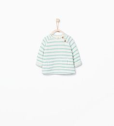 Image 1 of Striped sweatshirt with pockets from Zara